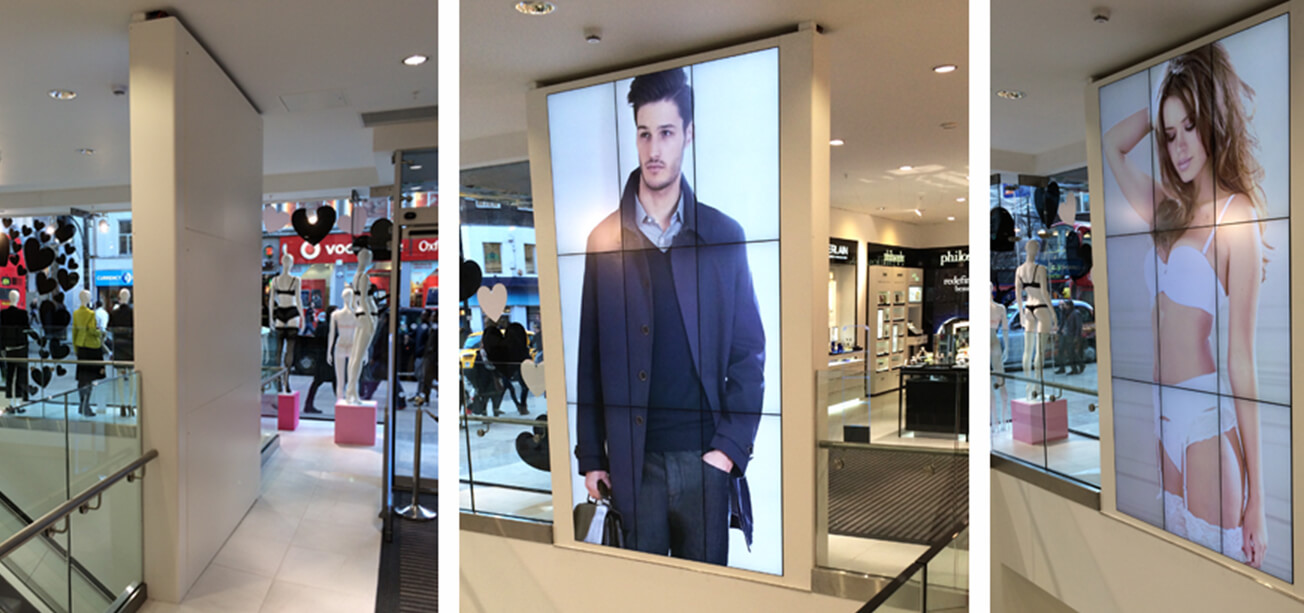 In-window digital signage